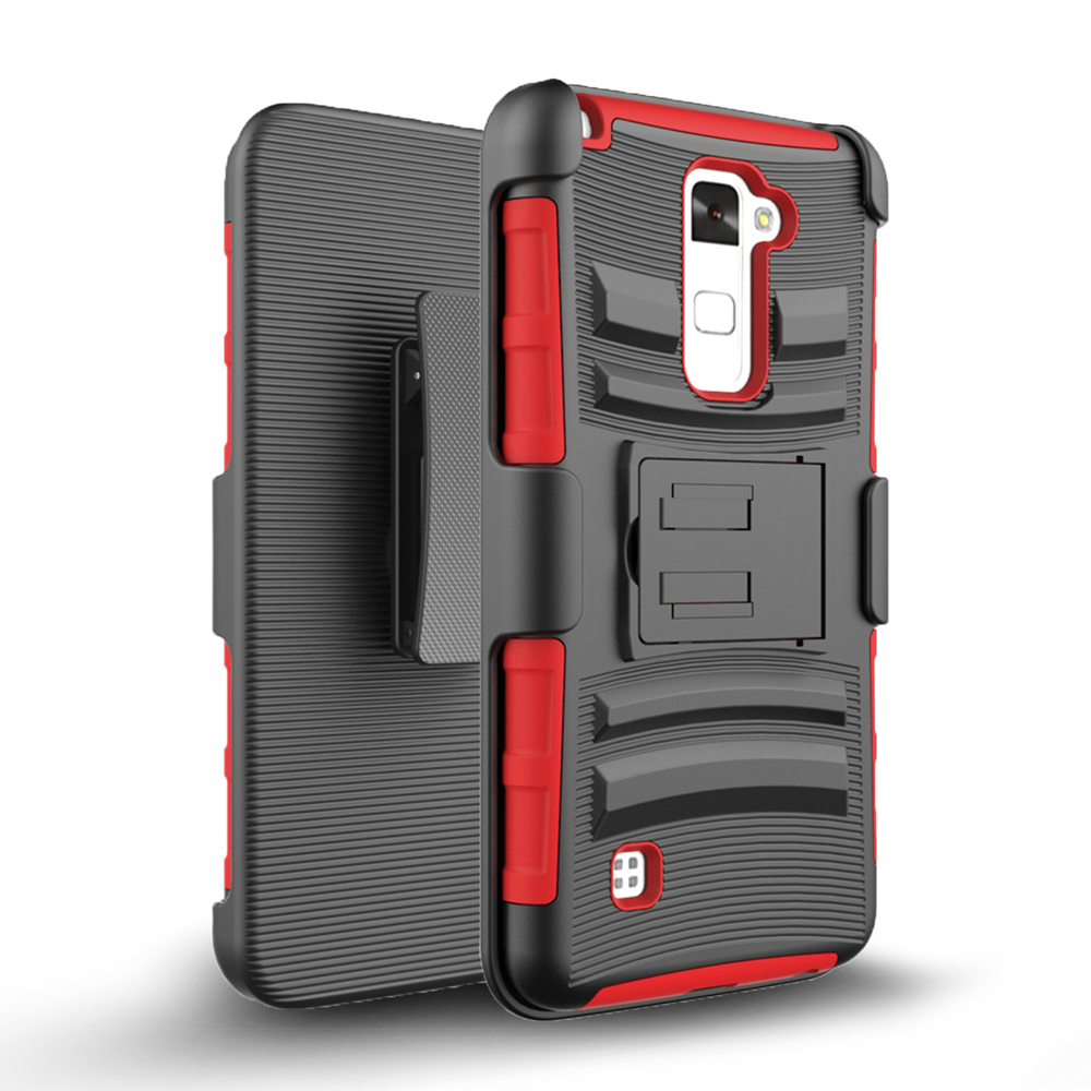 Zizo Armor Cover for LG Stylo 2 Plus MS550 w/ Kickstand Holster Clip Heavy Duty Strong ...