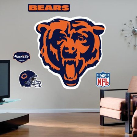 Chicago Bears Team Logo Fathead Wall Sticker - No (Fathead Wall Graphic)