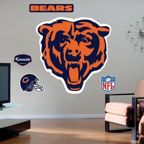 Chicago Bears Team Logo Fathead Wall Sticker - No Size