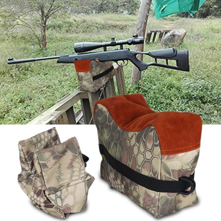 Unfilled Front & Rear Shooters Gun Rest Sand Bags Shooting Bench Steady Sandbag , Unfilled Sandbag, Shooters Rest Bag(Brown Camouflage)