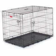 "42""L Lucky Dog Folding Black Wire 2 Door Training Crate"