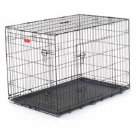 Lucky Dog Folding Black Wire 2 Door Training Crate, 42""
