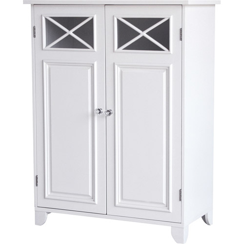 prairie double door floor cabinet white