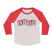 Korn  Blocks Girls Jr Raglan Long Sleeve Grey