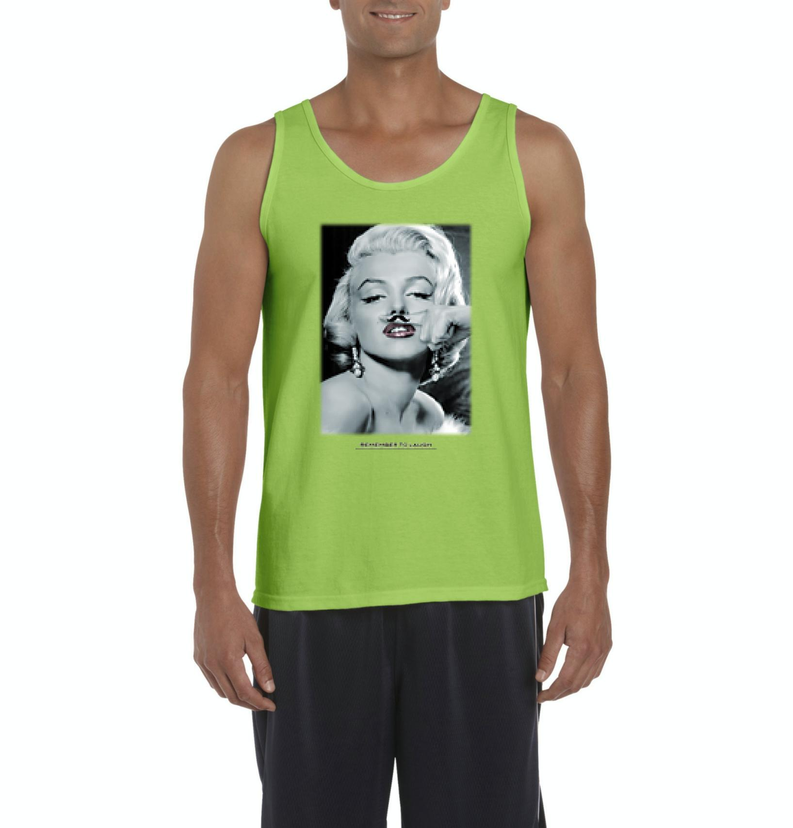 Artix Marilyn Monroe with Mustache Gift for Marilyn Monroe Quotes Lovers Men's Tank Top