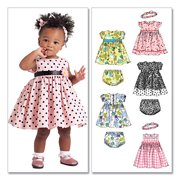 McCall's Pattern Infants' Lined Dresses, Panties and Headband, All Sizes in 1 Envelope
