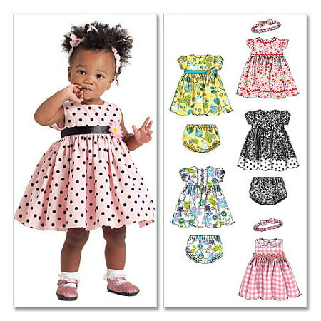 McCall's Pattern Infants' Lined Dresses, Panties and Headband, All Sizes in 1 Envelope (Mccalls Halloween Sewing Patterns)