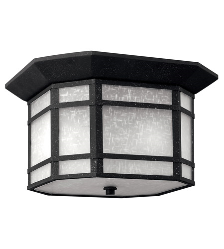Outdoor Wall Sconces 1 Light With Vintage Black White Linen Cast Aluminum LED 12 inch 30 Watts by RLA Hinkley