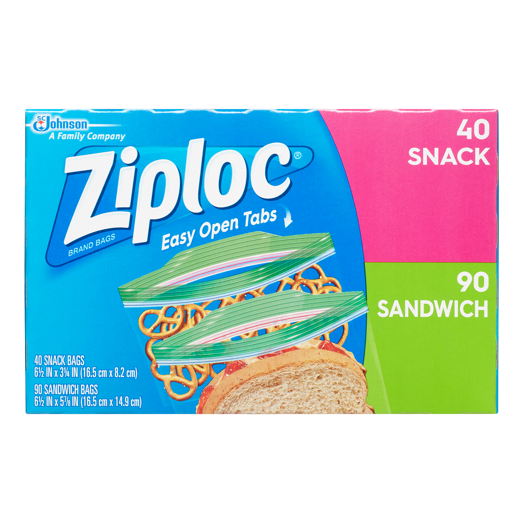 Ziploc Sandwich & Snack Lunch Pack Bags, 130 ct