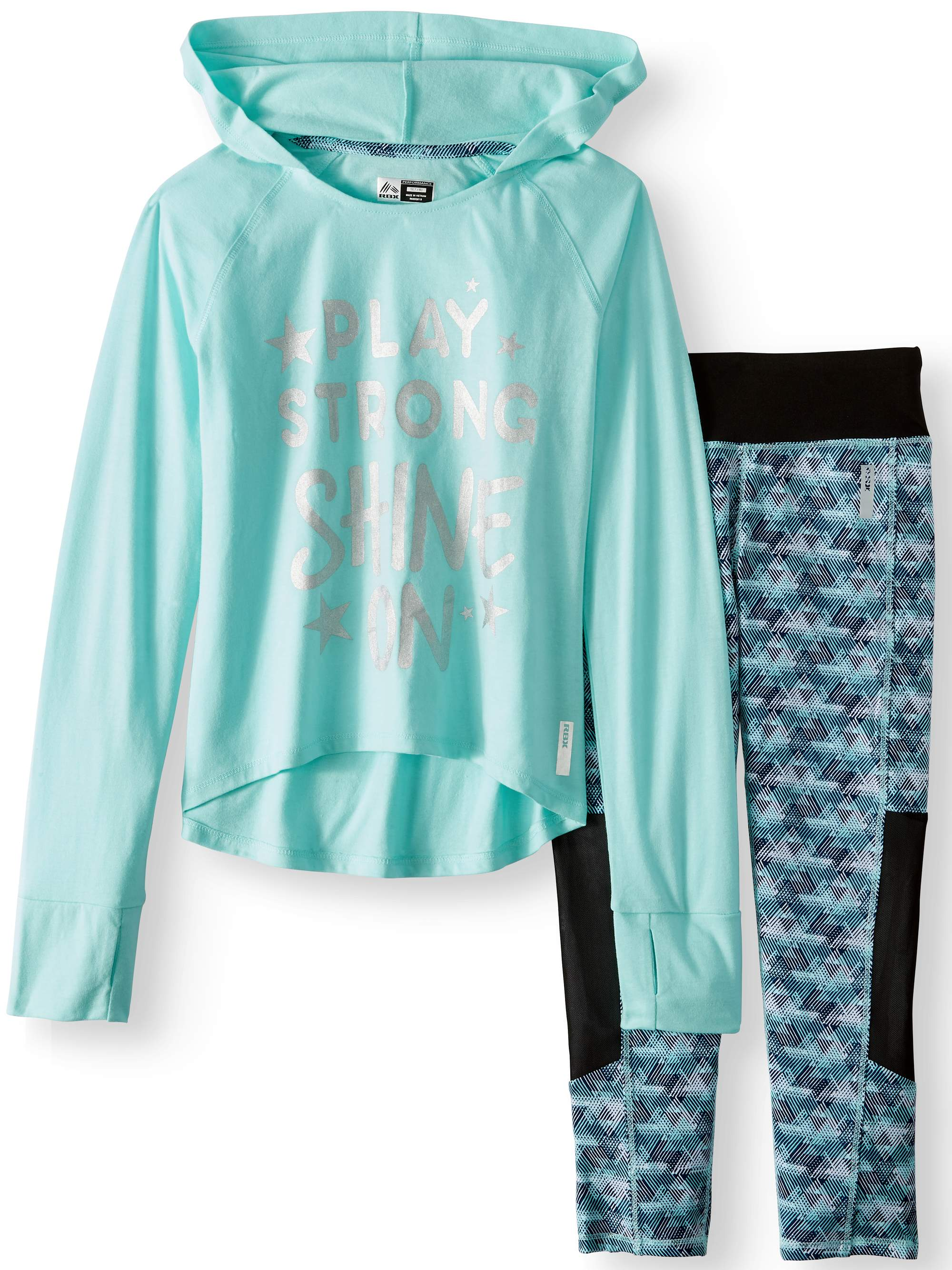Performance Graphic Waffle Hoodie & Legging, 2-Piece Set (Little and Big Girls)