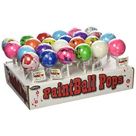 Espeez Candy Paintball Pops Giant Jawbreaker Lollipops - 24 count display (Giant Lollipop)