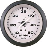 "Sierra 61547P Driftwood Series 3"" Black and Gray Pitot Type 10-50 MPH Dial Range Speedometer Gauge Kit with ""G"" Sender Code"