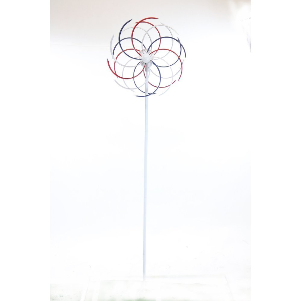 "Solar 68"" Patriotic Dual Kinetic Windmill Stake by Alpine Corporation"