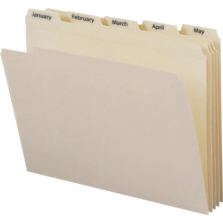 Monthly File (Smead, SMD11765, Monthly TopTab File Folders Sets, 12 / Set, Manila)