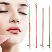VGEBY 4PCS/Set Stainless Steel Blackhead Acne Blemish Pimple Removal Needle Kit Tool for Women and Men Facial Care Skin Protect