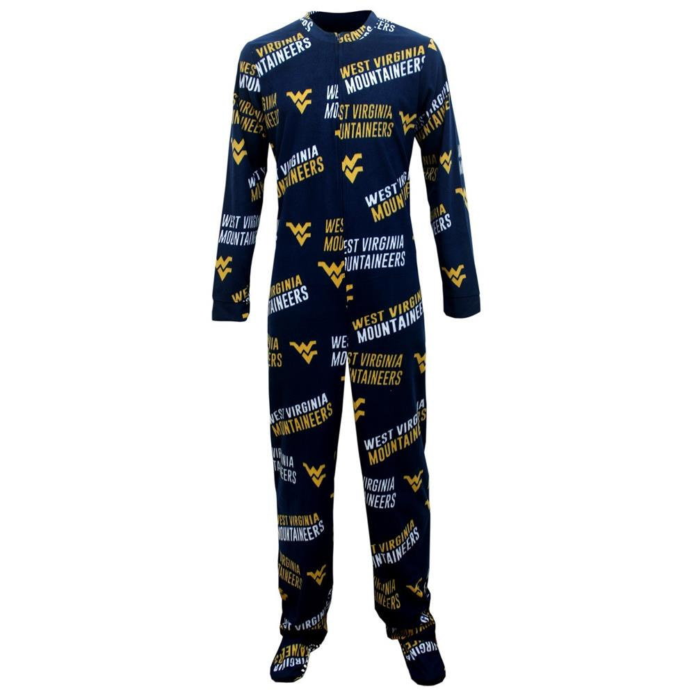 West Virginia Mountaineers Wildcard Union Suit Footed Pajamas by Concepts Sport
