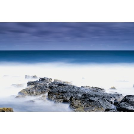 Long exposure surf at the Ahukini State Park Lydgate Kauai Hawaii United States of America