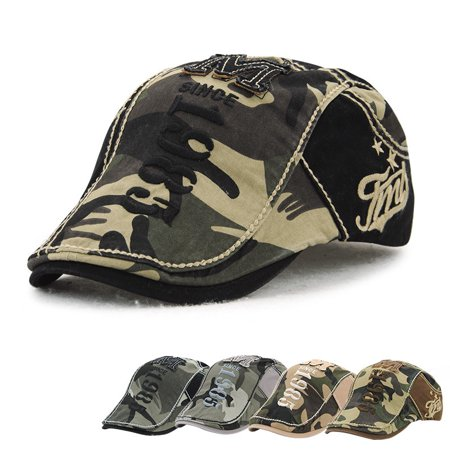 Meigar Unisex Men Women Beret Newsboy Flat Cap Cabbie Gatsby Camo Hunting Military Army Hat - Gatsby Clothing For Men