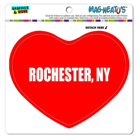 I Love Heart - City State - Rochester NY - MAG-NEATO'S(TM) Vinyl (Best Hiking Rochester Ny)