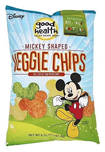 Good Health Natural Foods Veggie Chips Mickey Mouse Shaped 6.75 oz (2 Bags) by Good Health Natural Foods