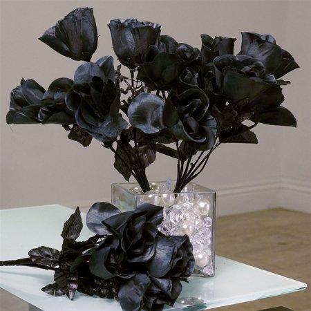 84 artificial silk rose buds wedding flower bouquet centerpiece 84 artificial silk rose buds wedding flower bouquet centerpiece decor black mightylinksfo