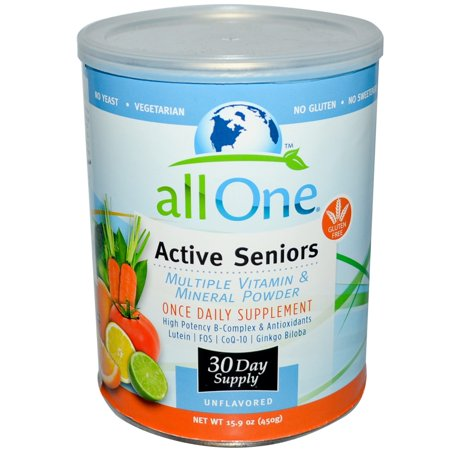 Image of All One Nutritech Active Seniors Multivitamin & Mineral Powder, 15.9 Oz