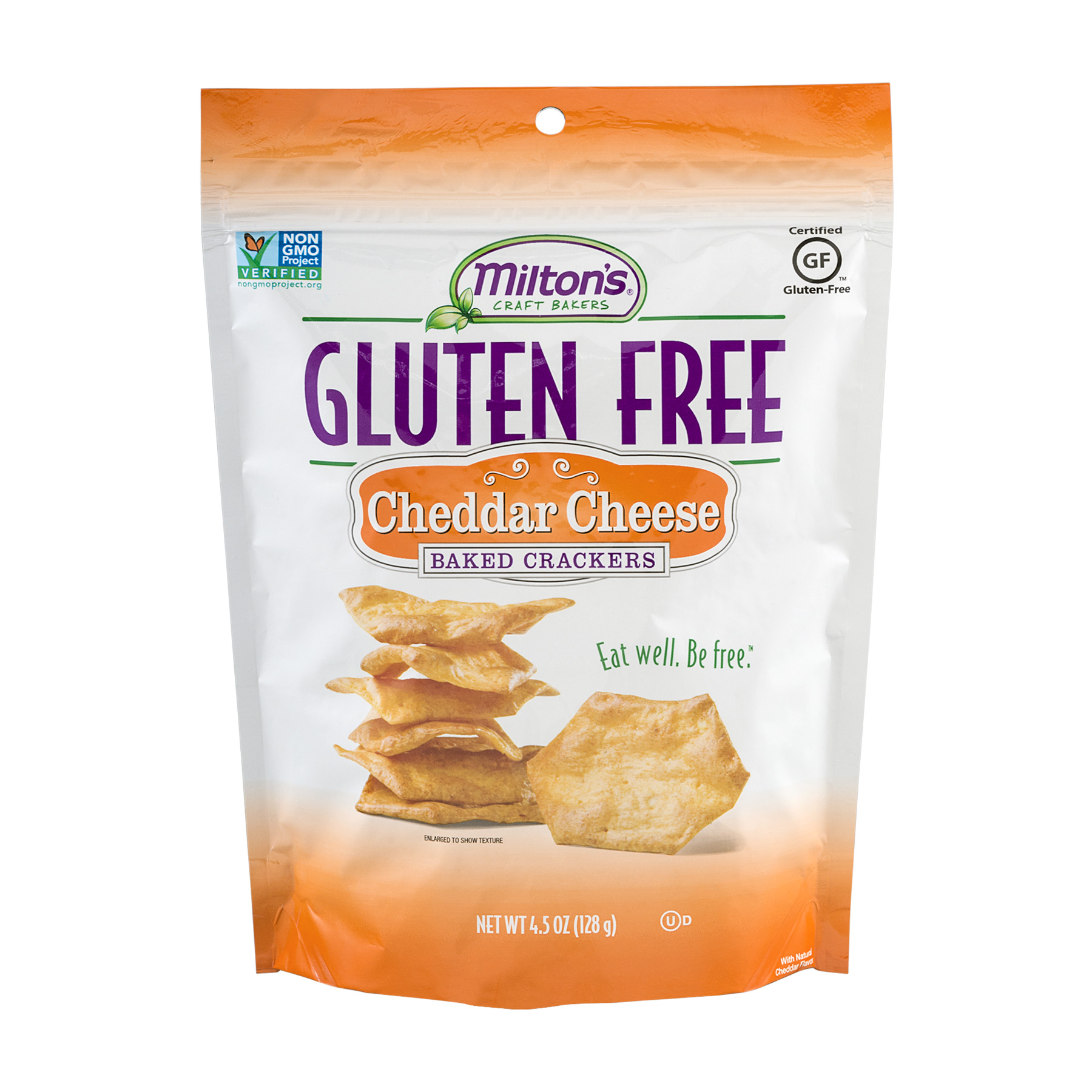 Milton's Craft Bakers Gluten-Free Baked Crackers, Cheddar Cheese, 4.5 Ounce []