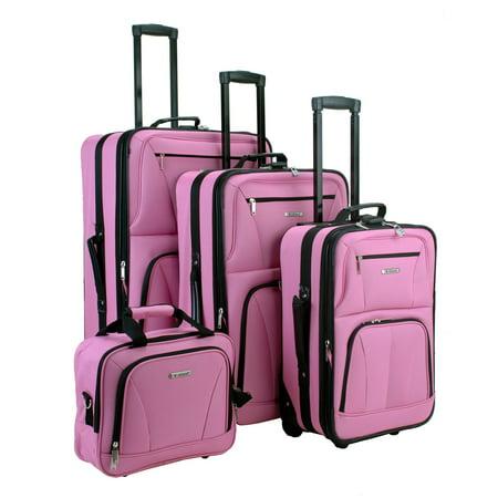 Rockland Journey 4-pc. Expandable Luggage Set - Pink