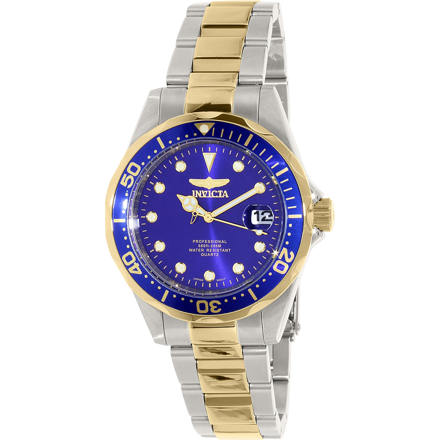 Invicta Men's Pro Diver Two-Tone Stainless Steel Watch wi...
