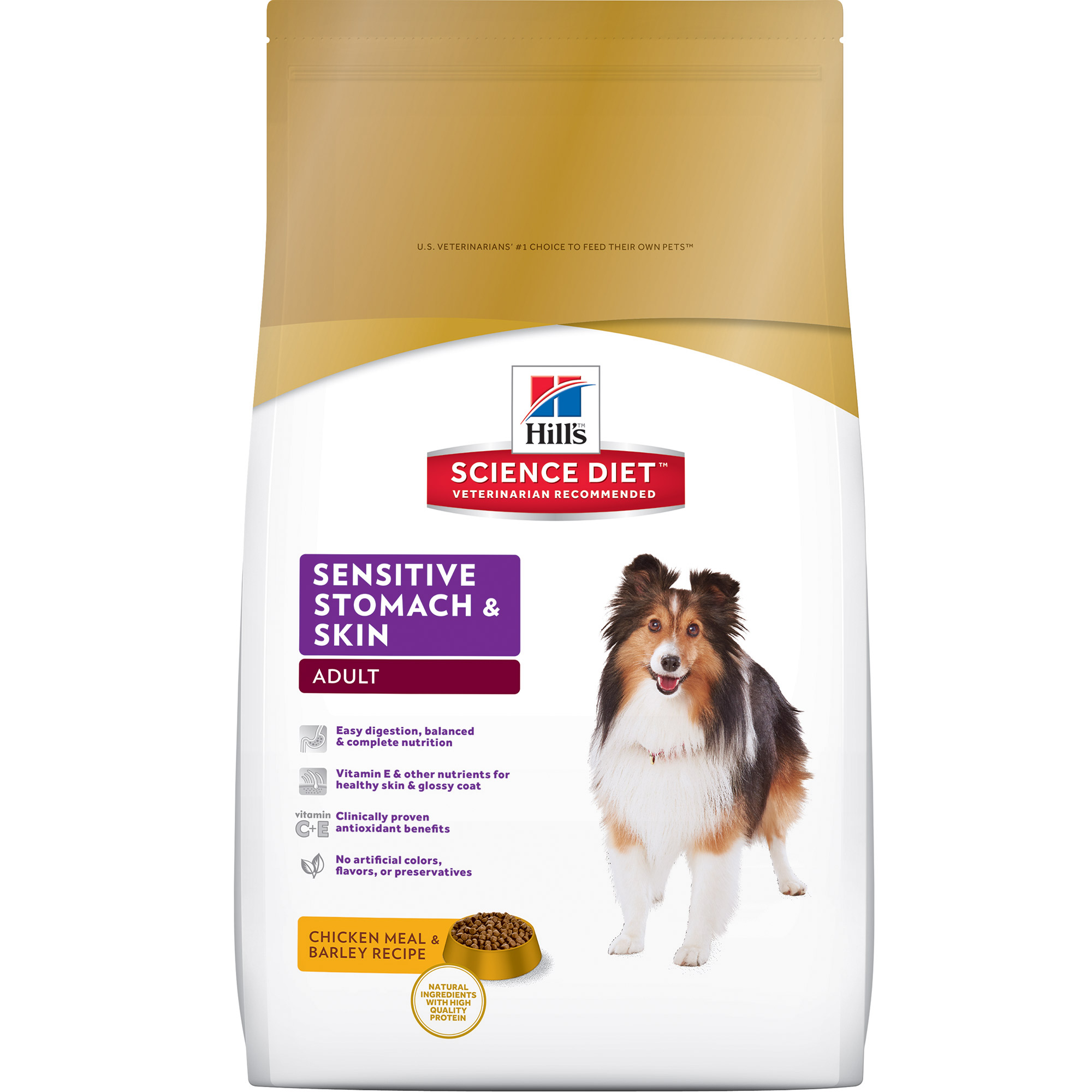 Hill's Science Diet (Get $5 back for every $20 spent) Adult Sensitive Stomach & Skin Chicken Meal & Barley Recipe Dry Dog Food, 30 lb bag