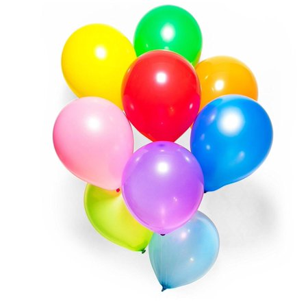 Rainbow Helium Balloons (Party Balloons 12 Inches Rainbow Set (100 Pack) Assorted Helium Or Air)