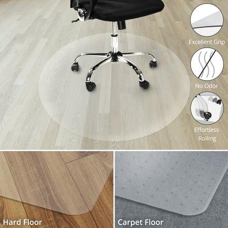 Office Marshal Chair Mat For Hard Floors 100 Transparent