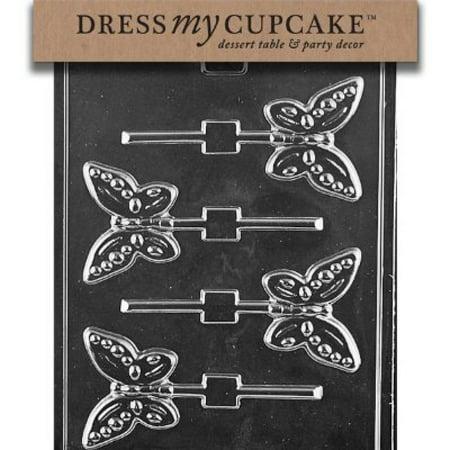 Dress My Cupcake Chocolate Candy Mold, Butterfly Lollipop - Halloween Candy Bar Cupcakes