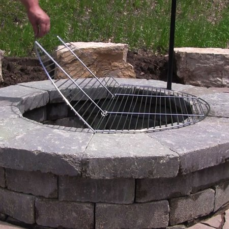 Sunnydaze Foldable Fire Pit Cooking Grate, Heavy Duty Chrome Plated, Outdoor BBQ Campfire Grill Grate, 30 (Best Way To Clean Bbq Grill Grates)