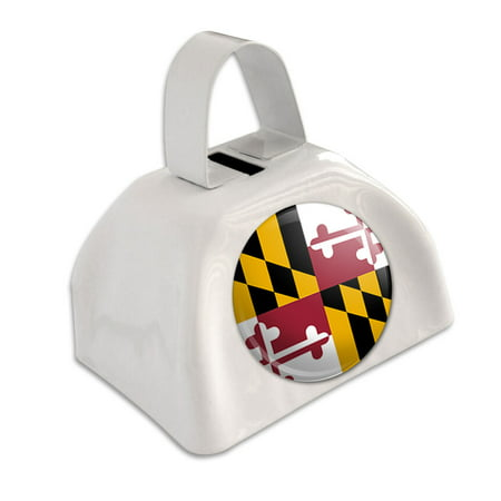 Maryland State Flag White Cowbell Cow Bell](Blue Cow Bells)