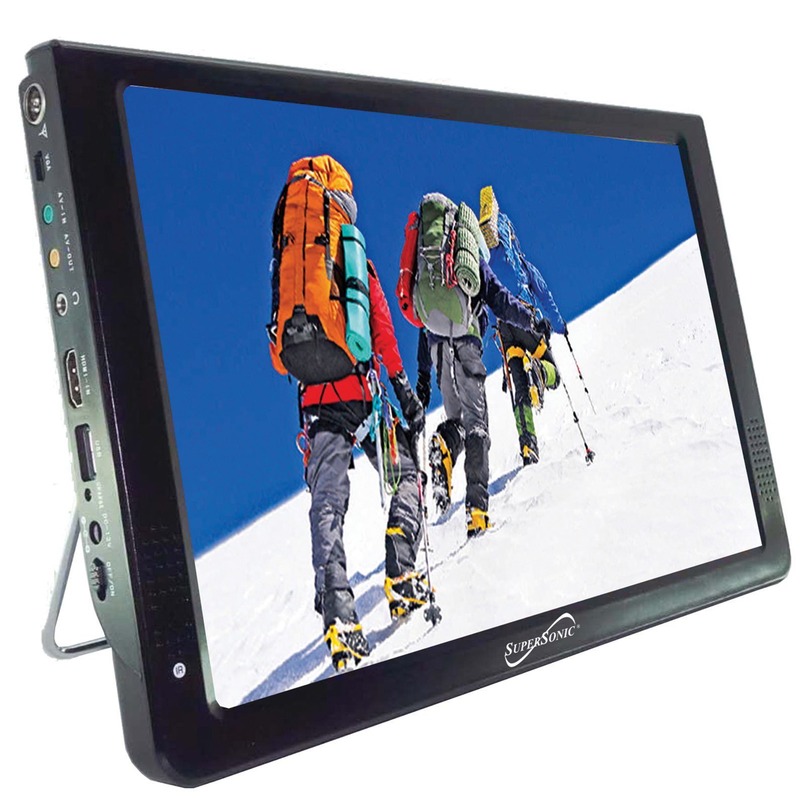 Supersonic 12 in. Portable LCD TV with USB & SD Inputs