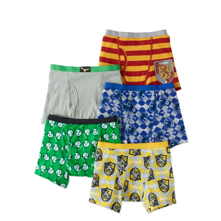 Harry Potter Boys Underwear, 5 Pack Boxer Briefs (Little Boys)