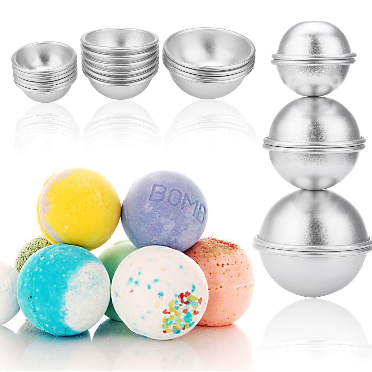16pcs Set Bath Bomb Mold Set Kit 8 Pairs 3 size Aluminium Alloy Bath Bomb Ball Mold For DIY Homemade Crafting by
