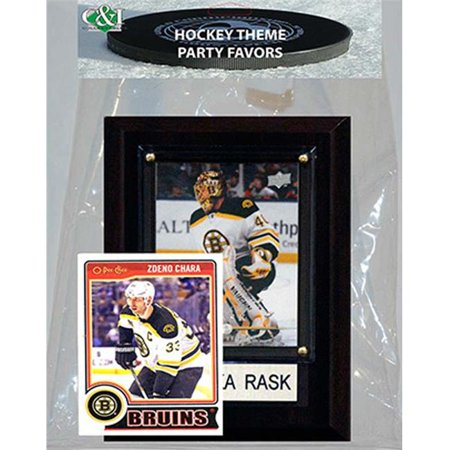 Candlcollectables 46LBBRUINS NHL Boston Bruins Party Favor With 4 x 6 Plaque (Boston Bruins Party Supplies)