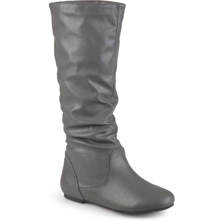 Slouch Riding Boots - Womens Slouch Riding Mid-Calf Boots