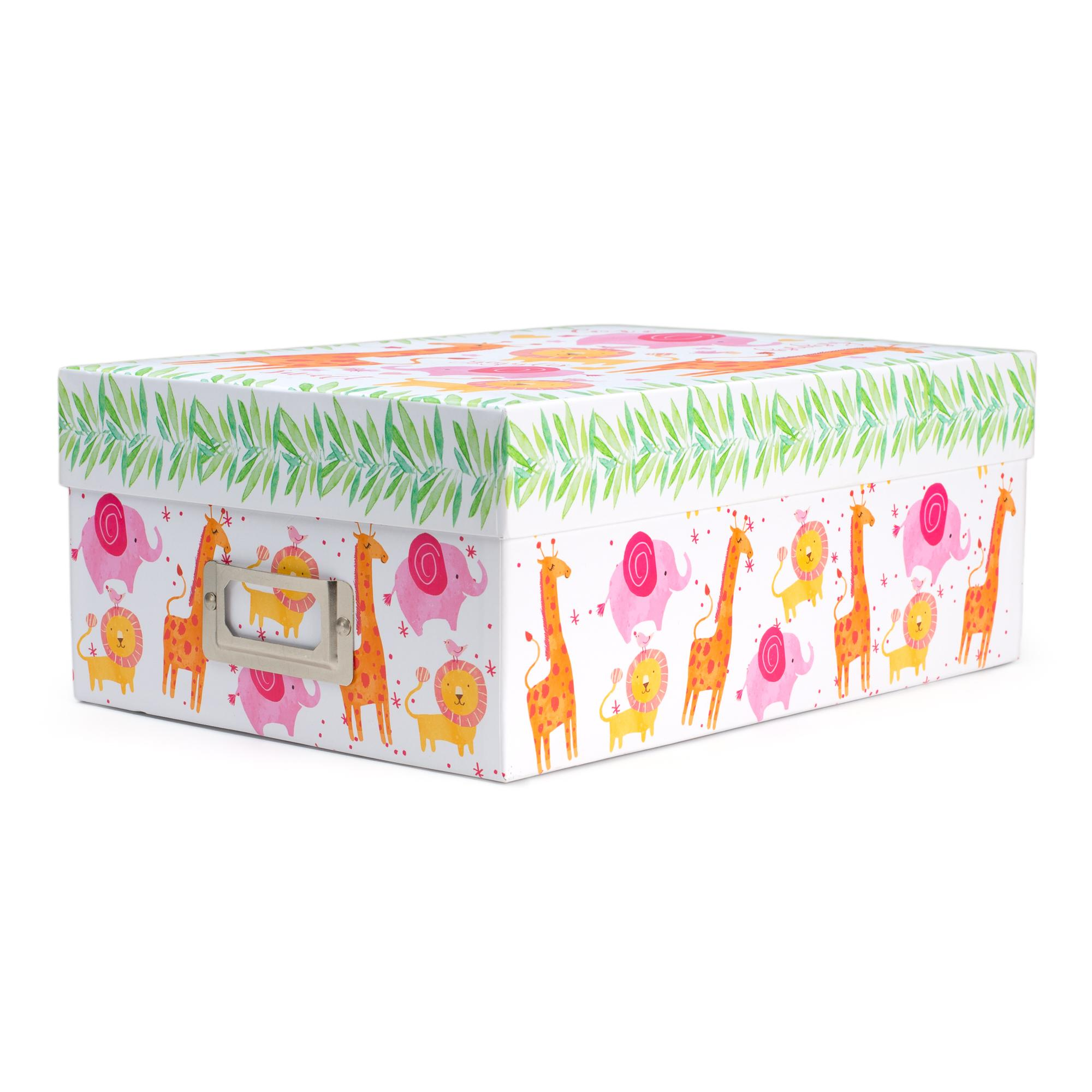 Tricoastal Design  Photo Storage Box Whimsical Animals Print