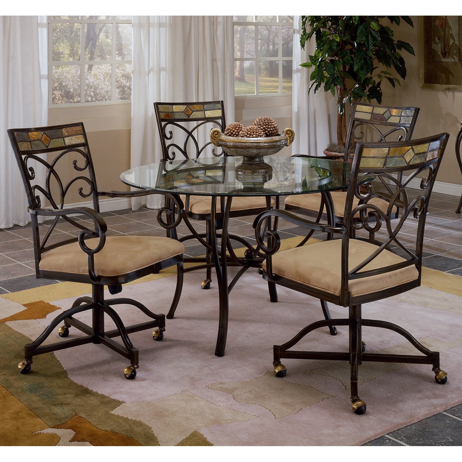 Hillsdsale Pompeii Caster Dining Chair, Set Of 2