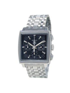 Pre-Owned Tag Heuer Monaco CW2111 Steel 38mm  Watch (Certified Authentic & Warranty)