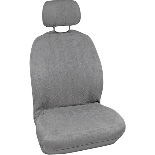Bell Quilted Suede Seat Cover, Grey