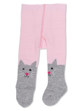 1 Pair Opaque Cat Design Tights (Infant & Toddler)