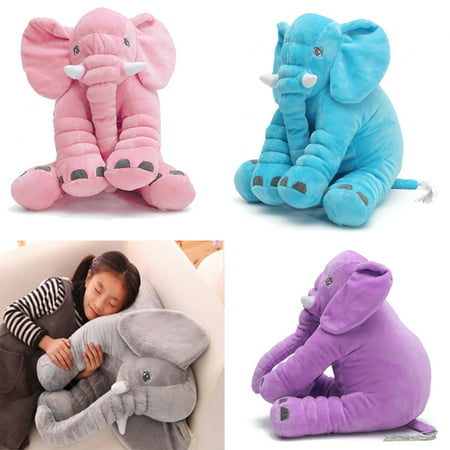 3 Size 4COLOR Soft Plush Stuffed Elephant Sleep Pillow Baby Kids Lumbar Cushion Birthday Toy Gift