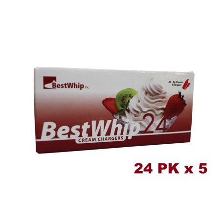 BestWhip N2O 8g Whip Cream Chargers (120 Packs) (Best Whipped Cream Brand India)