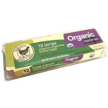 Marketside Organic Large Grade A Brown Eggs 12 Ct