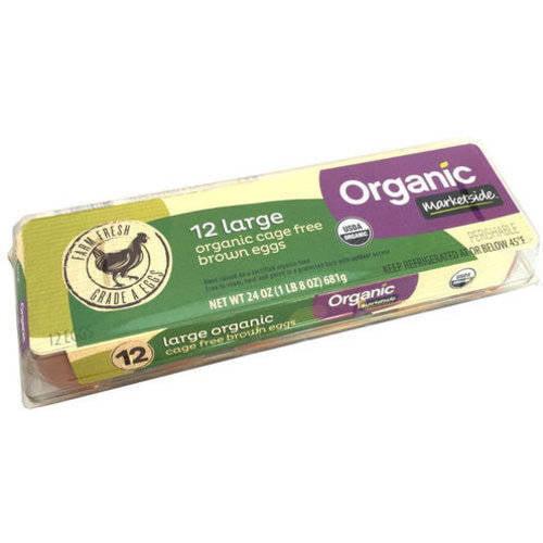 Marketside Organic Large Brown Grade A Eggs, 12 Count