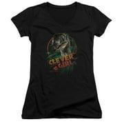 Clever Girl Juniors V-Neck Shirt